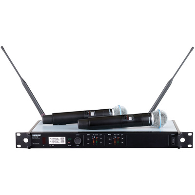 Shure ULXD24-B58A Dual Channel Digital Wireless Handheld (H51:534 to 598 MHz) Beta 58A