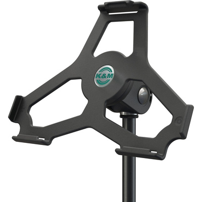 "K&M iPad Air Stand Holder - 5/8"" (Black)"