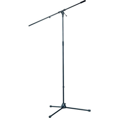 K&M 21021 Tripod Microphone Stand with Boom  (110 - 200cm) Black