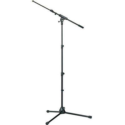 K&M 252 Microphone Stand with Boom Arm (Black)