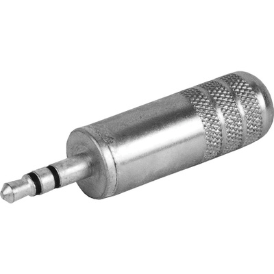 """Switchcraft 3.5mm (1/8"""" Mini) Stereo Plug 0.290"""" Cable Diameter (Nickel Handle, Tin Finger)"""