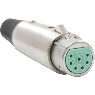 Switchcraft A Series 7-Pin XLR Male Cable Mount (Nickel, Silver)