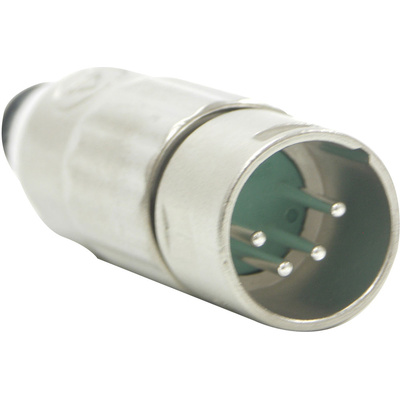 Switchcraft AAA Series 4-Pin XLR Male Cable Mount (Nickel Metal Finish, Silver Pins)
