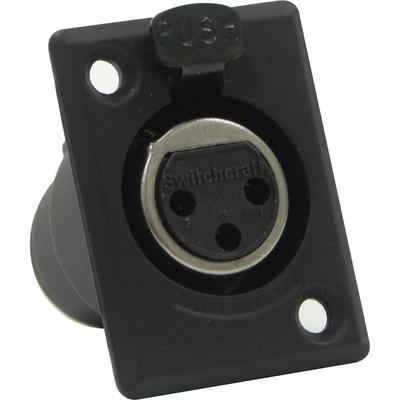 Switchcraft D Series 3-Pin XLR Female (Black Finish, Gold Pins)