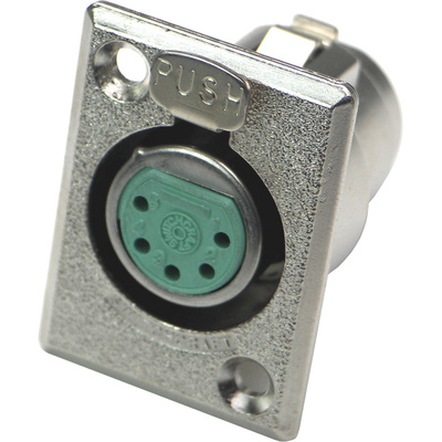 Switchcraft D Series 5-Pin XLR Female (Nickel Finish, Silver Pins)