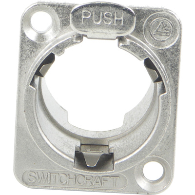 Switchcraft EH Series Empty Female Housing with Push Latch (Nickel)