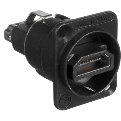 Switchcraft EH Series HDMI Feedthrough Connector (Black)