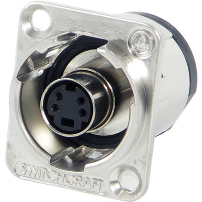 Switchcraft EH Series S-Video Jack Female to Female Connector (Nickel)
