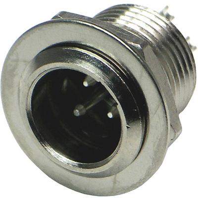 Switchcraft Tini-QG Mini XLR 3-Pin Male Circular Panel Mount (Nickel)