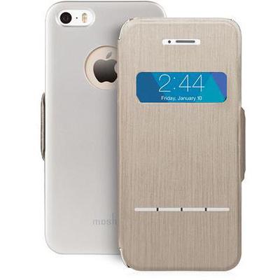 Moshi SenseCover Touch-Sensitive Flip Case for Apple iPhone 5/5s (Titanium)