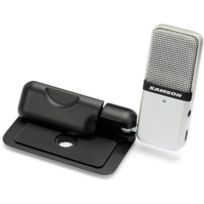 Samson Go Mic - USB Microphone for Mac and PC Computers (Silver)