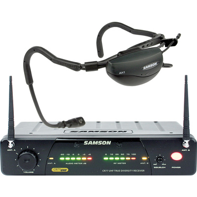 Samson AirLine 77 Fitness Head Worn Wireless Microphone System (Frequency N3: 644.125 MHz)