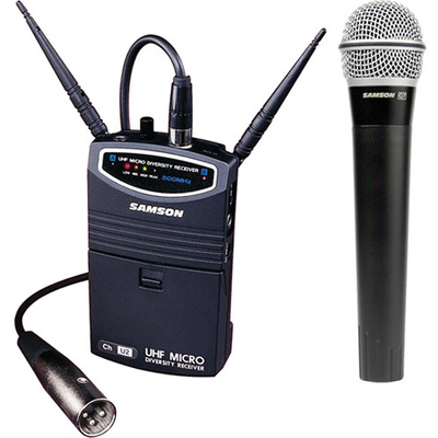 Samson UM1 Portable Handheld Wireless Microphone System (Frequency N4- 644.750 MHz)
