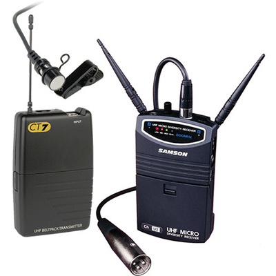 Samson UM1 Portable Wireless Lavalier Microphone System (Frequency N5- 645.500 MHz)