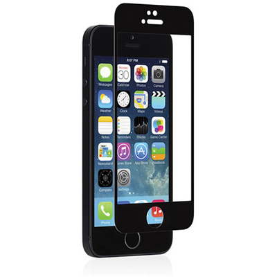 Moshi iVisor Glass Screen Protector for Apple iPhone 5/5s/5c (Black)