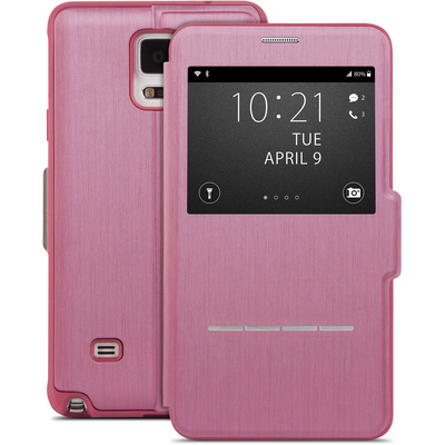 Moshi SenseCover Touch-Sensitive Flip Case for Samsung Galaxy Note 4 (Pink)