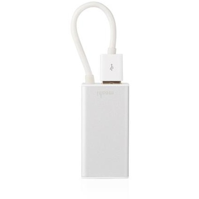 Moshi USB 3.0 to Ethernet Adapter for MacBook Air (Includes extra USB port)