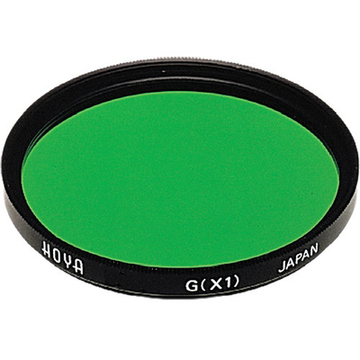 Hoya 67mm Green X1 (HMC) Multi-Coated Glass Filter for Black & White Film