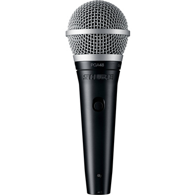 "Shure PGA48-QTR Dynamic Vocal Microphone (XLR to 1/4"" Cable)"