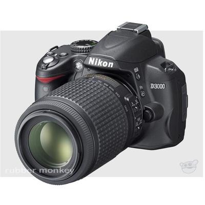 Nikon D3000 SLR Body and 18-55 AFSVR Lens