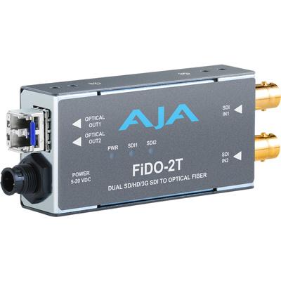 AJA FiDO-2T-CWDM Dual Channel SDI to LC Fiber Converter (CWDM)