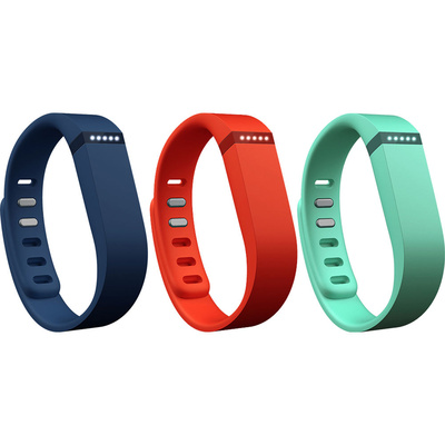 Fitbit Flex Replacement Band Sport 3-Pack (Large, Teal / Navy / Tangerine)