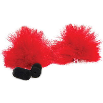Rycote Red Lavalier Windjammer (Pair)
