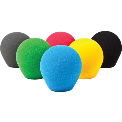Rycote 18/32 Small Diaphragm Mic Foam (Multi-Color) (10-Pack)