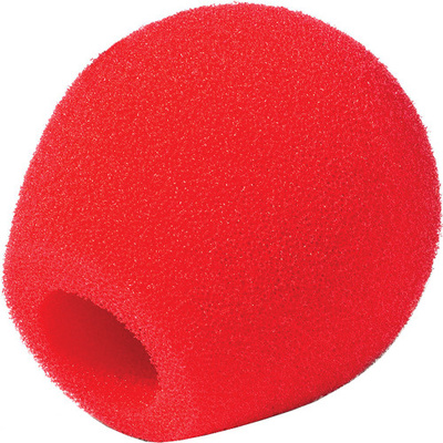 Rycote 18/32 Small Diaphragm Mic Foam (Red) (10-Pack)
