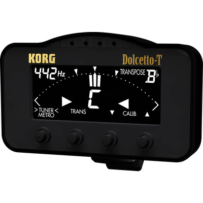 Korg Dolcetto-T Clip-On Tuner and Metronome for Trumpet and Trombone