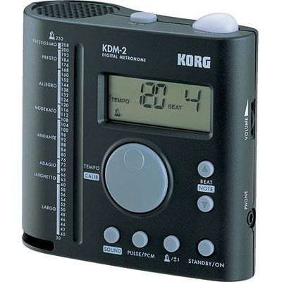 Korg KDM2 - Digital Metronome with Acoustic Resonating Chamber Speaker and LCD Display