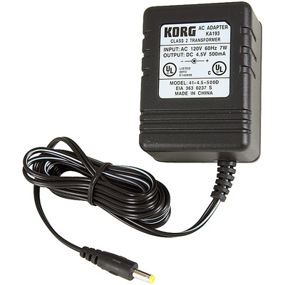 Korg KA193 - 4.5V AC Adapter for Korg PXR4 Series