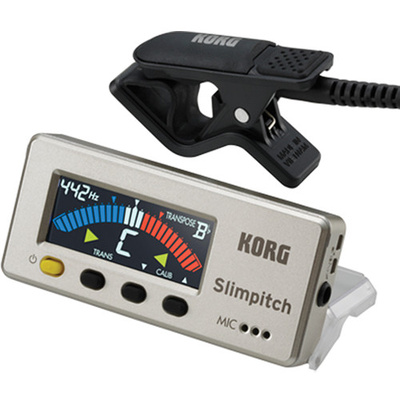 Korg Slimpitch Chromatic Tuner & Contact Microphone (Pearl Gold)