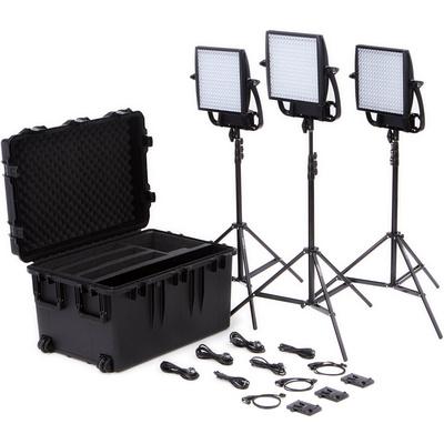 Litepanels Astra 1x1 Bi-Colour LED Traveler Trio V-Mount Kit