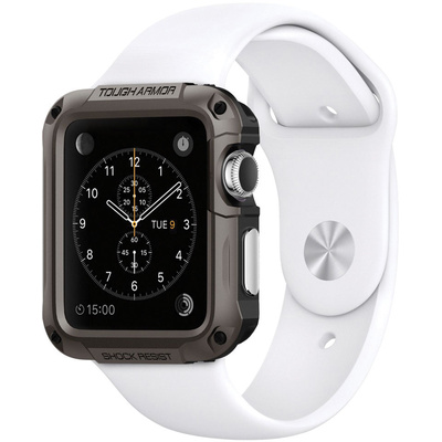 Spigen Tough Armor Case for 42mm Apple Watch (Gunmetal)