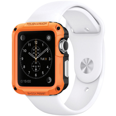 Spigen Tough Armor Case for 42mm Apple Watch (Tangerine Tango)