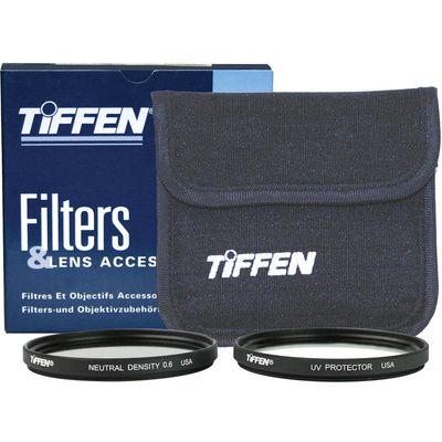 Tiffen 52mm Video Twin Pack (Clear, Neutral Density (ND) 0.6 and Soft Pouch)