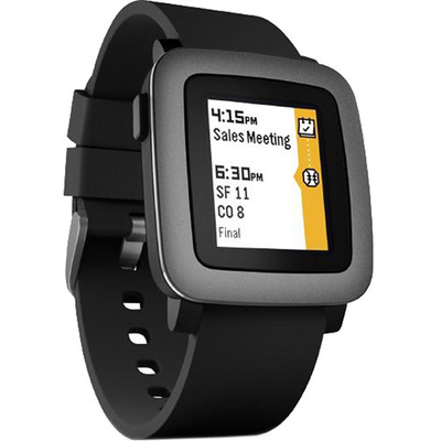 Pebble Time Smartwatch (Black with Black Bezel)