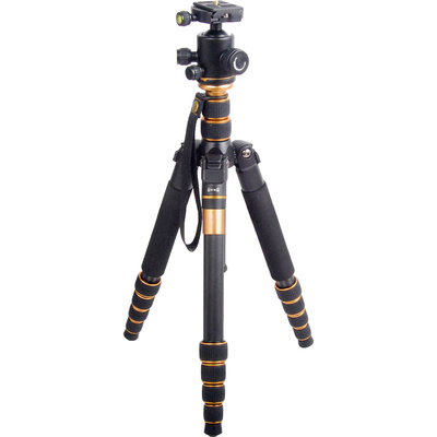 CAME-TV Q66C Carbon Fiber Tripod with Ball Head