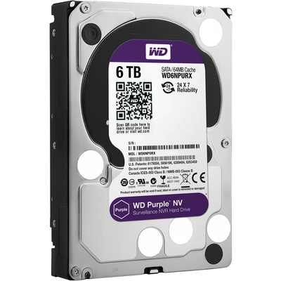 "WD 6TB Purple NV 3.5"" Internal Surveillance Hard Drive"