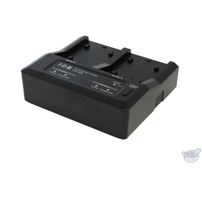 IDX System Technology 2-Channel Charger for Panasonic, Canon, & Sony Batteries (7.2V/7.4V)