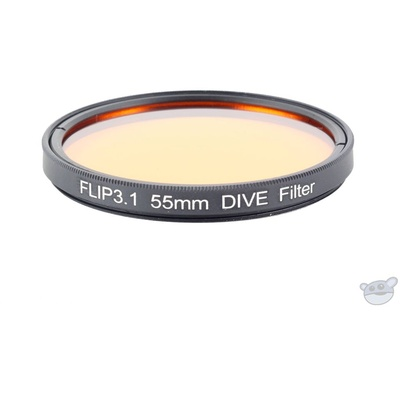 Flip Filters 55mm Threaded Underwater Colour Correction Red Filter for GoPro (DIVE)