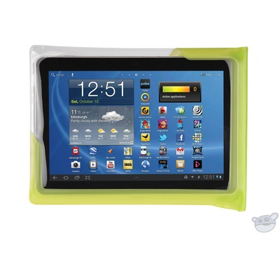 """DiCAPac Waterproof Case for 10"""" Tablets (Green)"""