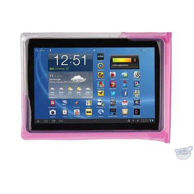"""DiCAPac Waterproof Case for 10"""" Tablets (Pink)"""