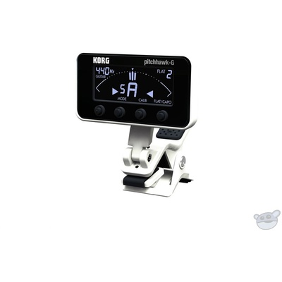 Korg AW3G2 PitchHawk Clip-On Tuner for Guitar/Bass (White)