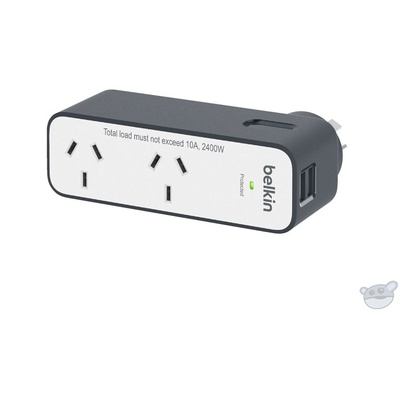 Belkin Domestic Travel Surge Protector with 2 USB Ports 2.4A