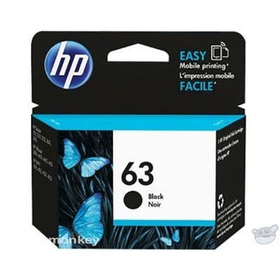 HP 63 Black Original Ink Cartridge (F6U62AA)
