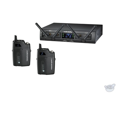 Audio Technica ATW-1311 System 10 PRO Rack-Mount Digital Dual UniPak Transmitter System (2.4 GHz)