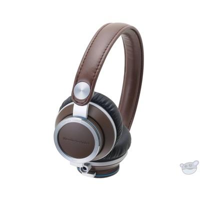 Audio-Technica ATH-RE700 High-Fidelity Audiophile On-Ear Headphones (Brown)
