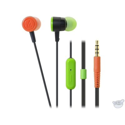 Audio Techinca In-Ear Headphones and Control for iPhone (Black Crazy)